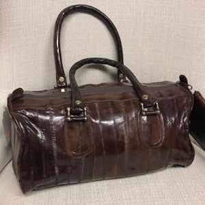 Vintage Authentic Eel Brown Drs Bag & Wallet